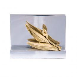 Καρτοθήκη - Μεταλλικό Αξεσουάρ Γραφείου - Κλαδί Ελιάς