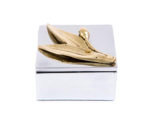 Σετ Αξεσουάρ Γραφείου - Χαρτοκόπτης & Κουτί με Κλαδί Ελιάς