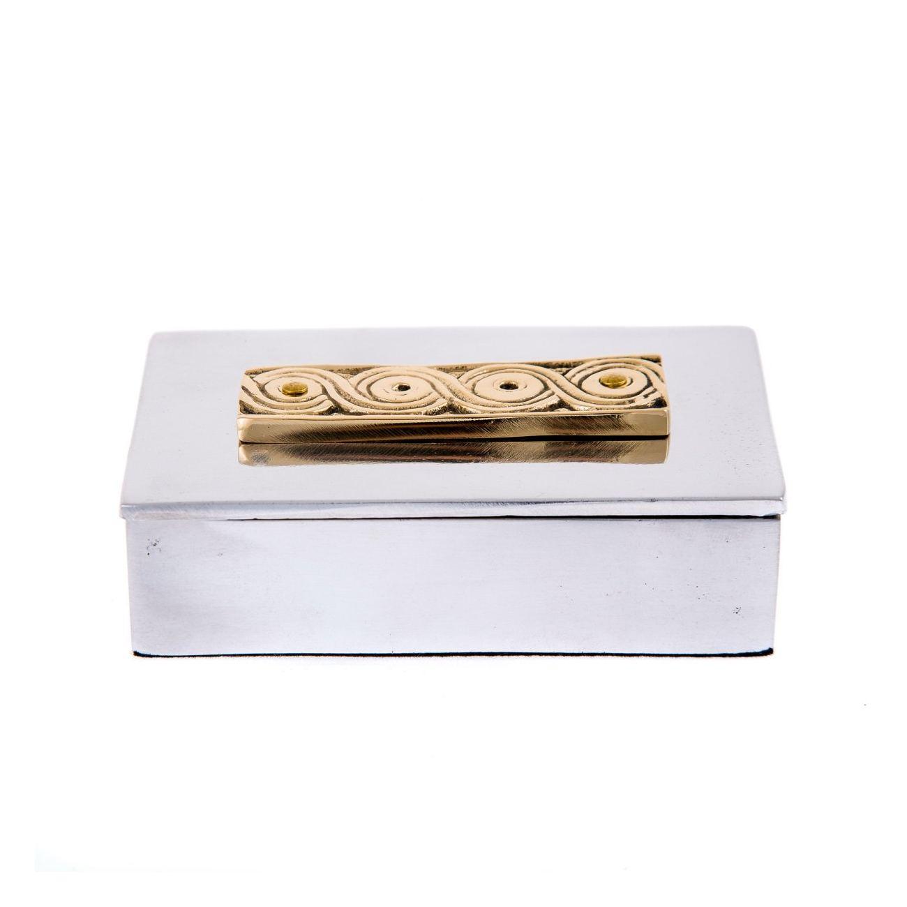 Desk accessories set of 2 archaic design handmade solid metal desk accessories set of 2 archaic design handmade solid metal decorative storage box business card holder colourmoves