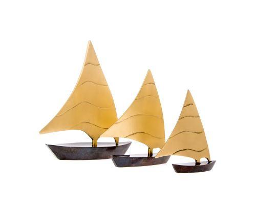 Σετ 3 Διακοσμητικά Καράβια - Μεταλλικά