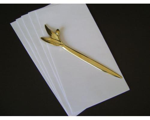 Σετ Γραφείου - Καρτοθήκη, Χαρτοκόπτης, Κουτί με Κλαδί Ελιάς