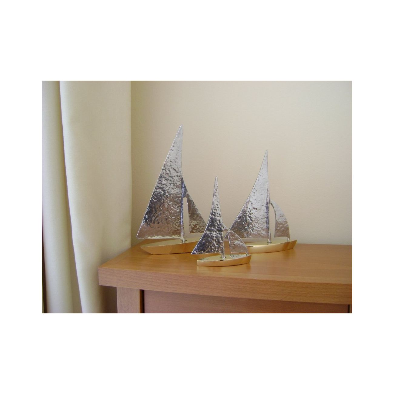 Sailing Boat Set Of 3 Handmade Metal Decorative