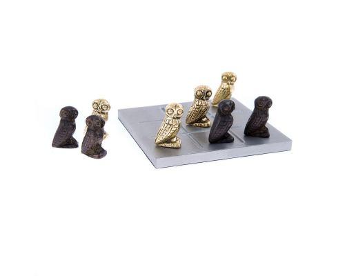 Τρίλιζα - Μεταλλικό Παιχνίδι - Κουκουβάγιες