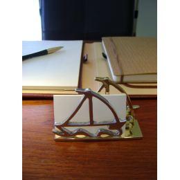 Καρτοθήκη - Μεταλλικό Αξεσουάρ Γραφείου - Καράβια