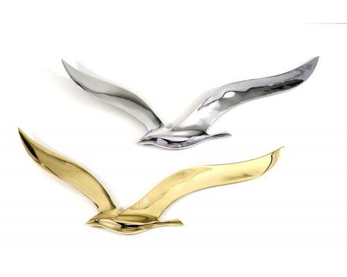 Γλάρος, Διακοσμητικό Τοίχου - Μεταλλικό, Χρυσό, Μεγάλο