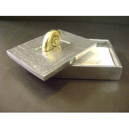 Μεταλλικό Κουτί - Διακοσμητικό με Κοχύλι - Ναυτίλο