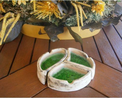 Διακοσμητικό Τασάκι - Κεραμικό με Πράσινο Γυαλί