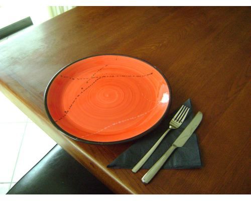 Πιάτο Φαγητού - Κεραμικό, Κόκκινο