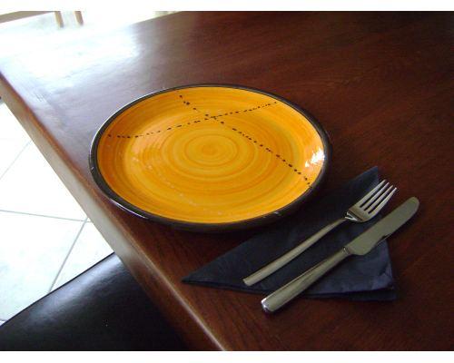Πιάτο Φαγητού - Κεραμικό, Κίτρινο