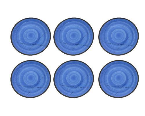 Πιάτα Φαγητού - Σετ 6 Κεραμικά, Μπλε