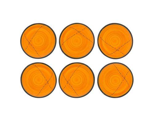Πιάτα Φαγητού - Σετ 6 Κεραμικά, Κίτρινα