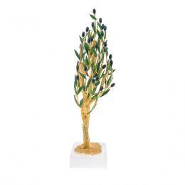 Δέντρο Ελιάς - Επίχρυσο Διακοσμητικό με Καρπούς & Πράσινα Φύλλα