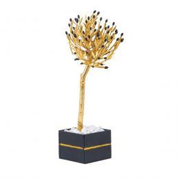 Μεγάλο Δέντρο Ελιάς - Επίχρυσο Διακοσμητικό με Μαύρο Κασπώ