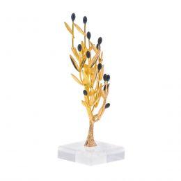 Δέντρο Ελιάς - Επίχρυσο Διακοσμητικό με Καρπούς, Μικρό