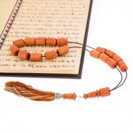 Κομπολόι από Ξύλο Ευκάλυπτου & Ασήμι 925