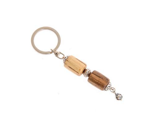 Σετ Κομπολόι & Μπρελόκ για Κλειδιά από Ξύλο Καρυδιάς & Πορτοκαλιάς