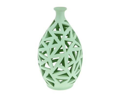 Φαναράκι Διακοσμητικό για Ρεσώ - Κεραμικό, Πράσινο, Μεγάλο