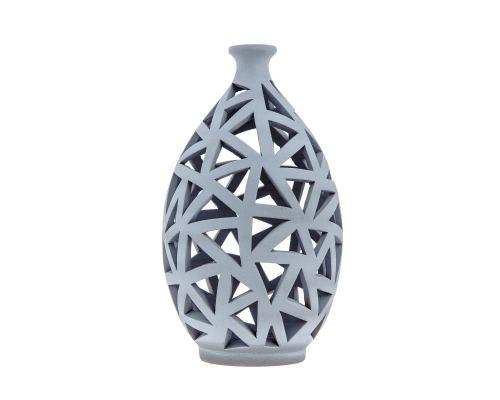 Φαναράκια Διακοσμητικά για Ρεσώ - Σετ 2 Κεραμικά, Γκρι