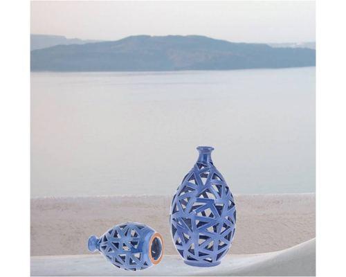 Φαναράκια Διακοσμητικά για Ρεσώ - Σετ 2 Κεραμικά, Μπλέ