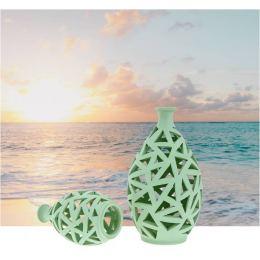 Φαναράκια Διακοσμητικά για Ρεσώ - Σετ 2 Κεραμικά, Πράσινα