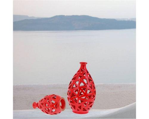 Φαναράκι Διακοσμητικό για Ρεσώ - Κεραμικό, Κόκκινο, Μικρό