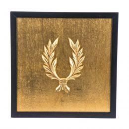 Κάδρο - Διακοσμητικό, με Ανάγλυφο Στεφάνι Δάφνης, Χρυσό