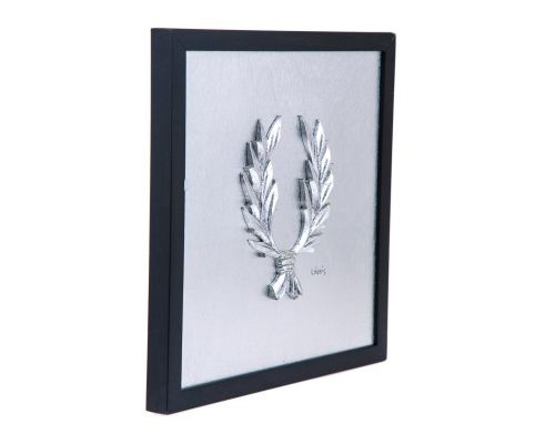 Laurel Wreath Design - Silver Patinated - Handmade Wall or Table Ornament - 11.8'' (30cm)