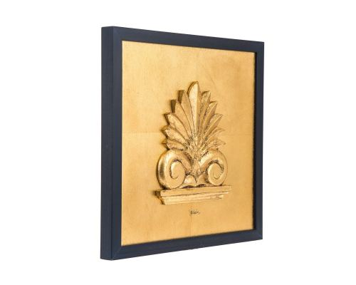 Antefix Design - Gold Patinated - Handmade Wall or Table Ornament - 11.8'' (30cm)
