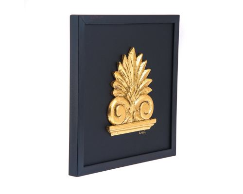 Επιτοίχιο με Ακροκέραμο, Μαύρο - Χρυσό 30cm
