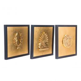 Κάδρα Διακοσμητικά - Τρίπτυχο σε Χρυσό