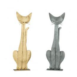 Γάτα – Μεταλλικό Διακοσμητικό Τοίχου και Επιτραπέζιο - 2 χρώματα