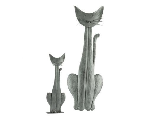 Γάτα - Διακοσμητικό Τοίχου, Μεταλλικό, Ασημί, Μεγάλο