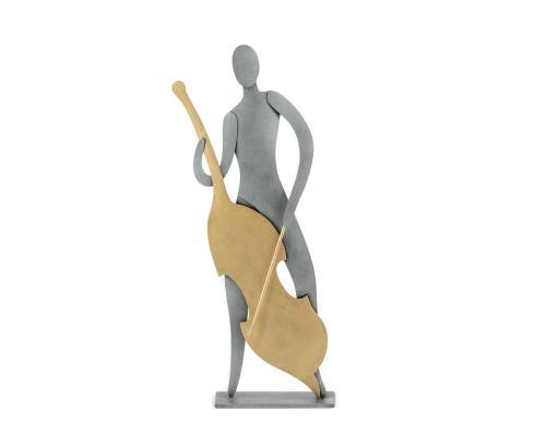 Μουσικός με Τσέλο - Μεταλλικό Διακοσμητικό Τοίχου και Επιτραπέζιο (24cm)