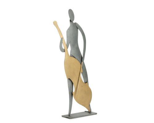 Μουσικός Με Τσέλο - Μεταλλικό Διακοσμητικό Τοίχου και Επιτραπέζιο