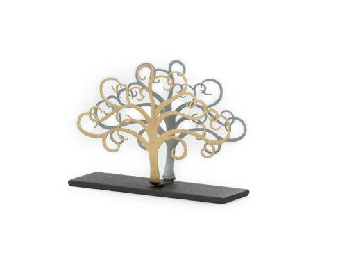 Elegant Handmade Metal Business Card Holder, Tree of Life Figure Design