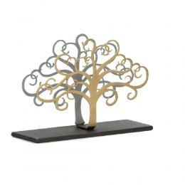 "Elegant Metal Business Card Holder, Tree of Life Figure Design, Handmade, 4.7"" (12cm)"