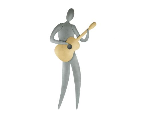 Μουσικός με Κιθάρα - Μεταλλικό Διακοσμητικό Τοίχου (54cm)