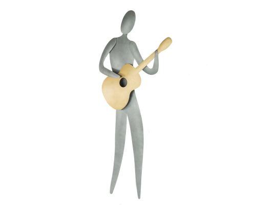 Μουσικός με Κιθάρα - Διακοσμητικό Τοίχου, Μεταλλικό
