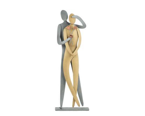 Ερωτευμένο Ζευγάρι με Ανθοδέσμη - Μεταλλικό Διακοσμητικό Τοίχου και Επιτραπέζιο (27cm)