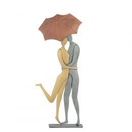 Ζευγάρι με Ομπρέλα - Μεταλλικό Διακοσμητικό Τοίχου και Επιτραπέζιο (26cm)