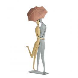 Ζευγάρι με Ομπρέλα - Μεταλλικό Διακοσμητικό Τοίχου και Επιτραπέζιο