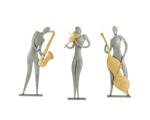 Μουσικός - Μεταλλικό Διακοσμητικό Τοίχου και Επιτραπέζιο - 3 σχέδια