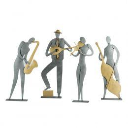 Μουσικός - Μεταλλικό Διακοσμητικό Τοίχου και Επιτραπέζιο - 4 σχέδια