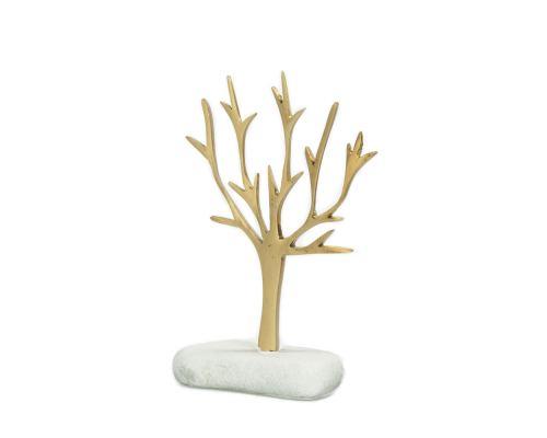 Μοντέρνο Διακοσμητικό Δέντρο – Μεταλλικό σε Λευκό Βότσαλο