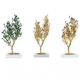 Επίχρυσο Δέντρο Ελιάς με καρπούς- 3 Σχέδια