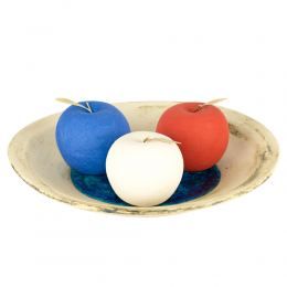 Σετ Διακοσμητικά Φρούτα - Κεραμικά Μήλα, Μπλε, Κόκκινο & Άσπρο