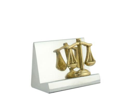 Σετ Γραφειου 4 τεμ. - Ζυγός Θέμιδος (Σύμβολο Δικαιοσύνης) Καρτοθήκη, Χαρτοκόπτης, Πρες Παπιέ, Μολυβοθήκη