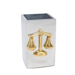 Σετ Γραφειου 3 τεμ. - Ζυγός Θέμιδος (Σύμβολο Δικαιοσύνης) Καρτοθήκη, Χαρτοκόπτης, Μολυβοθήκη