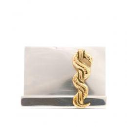 Σετ Γραφειου 2 τεμ. - Κηρύκειο του Ασκληπιού (Σύμβολο Ιατρικής) Καρτοθήκη, Μολυβοθήκη