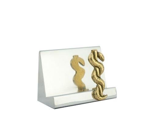 Σετ Γραφειου 3 τεμ. - Κηρύκειο του Ασκληπιού (Σύμβολο Ιατρικής) Καρτοθήκη, Χαρτοκόπτης, Μολυβοθήκη